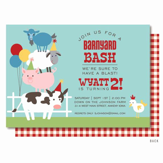 Farm Animal Birthday Invitation Luxury Farm Birthday Invitation Barnyard Birthday Invitation Farm