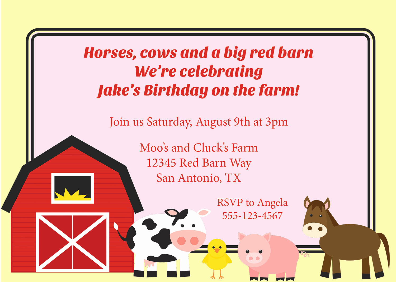 Farm Animal Birthday Invitation Luxury Farm Invitation Farm Animal Invite Kid S Party by