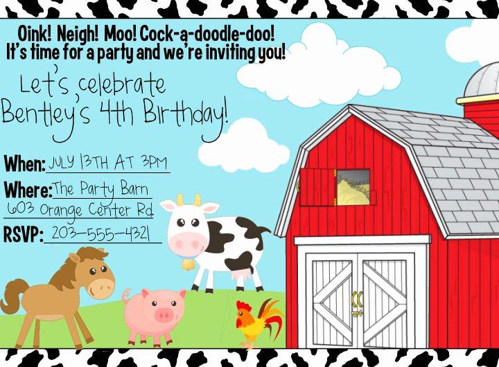 Farm Animal Birthday Invitation Luxury Free Printable Leopard Birthday Invitations