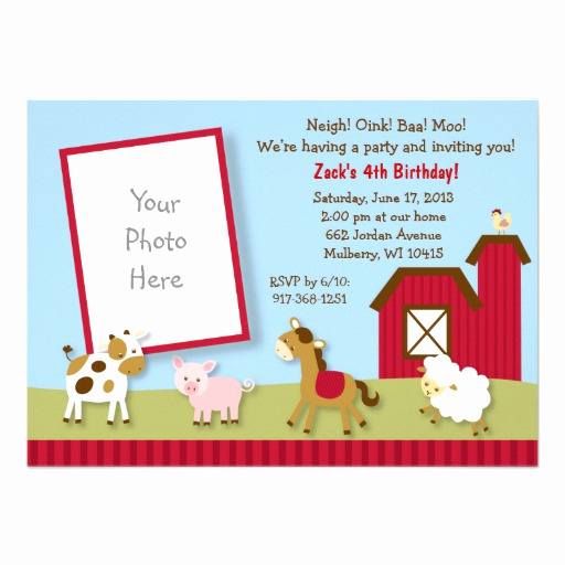 petting zoo invitations