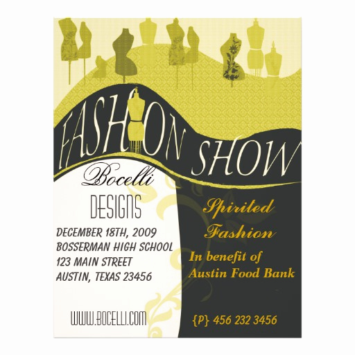 Fashion Show Invitation Template Awesome Fashion Show & Designer Invitation Full Color Flyer
