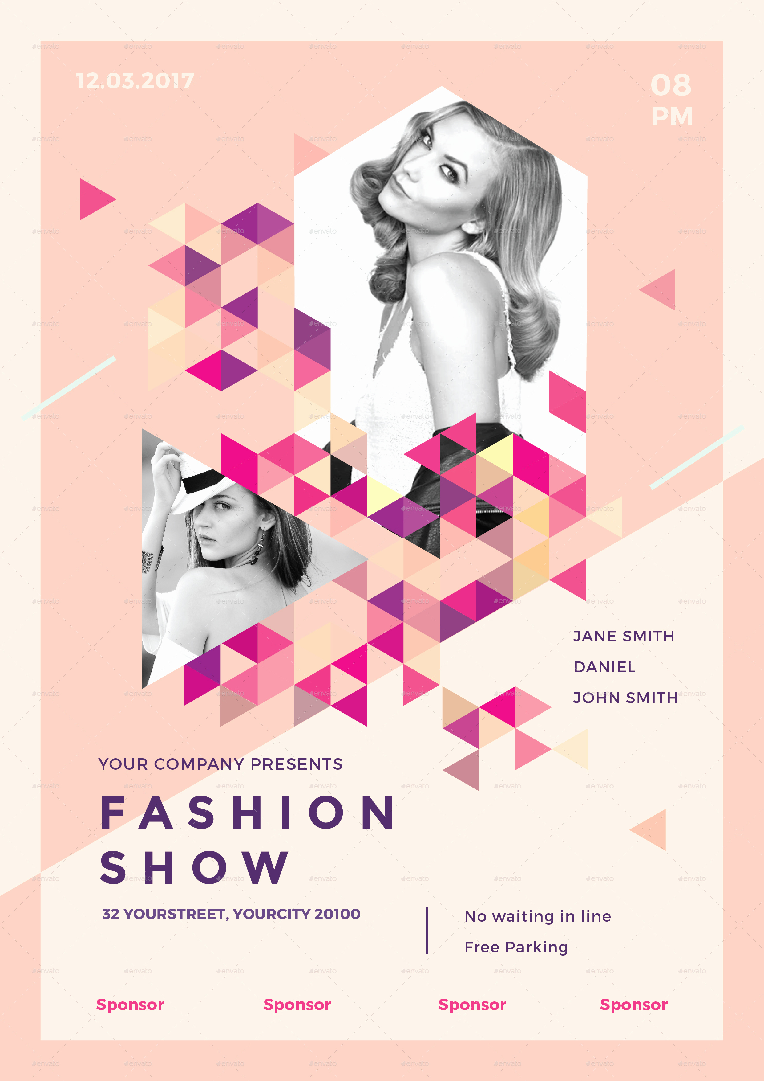 Fashion Show Invitation Template Beautiful Fashion Show Flyer by Infinite