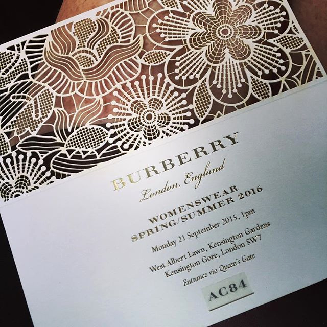 Fashion Show Invitation Template Best Of Burberry Ss 2016 Fashion Show Invitations