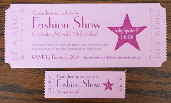 Fashion Show Invitation Template Best Of Items Similar to Fashion Show Ticket Invitation On Etsy