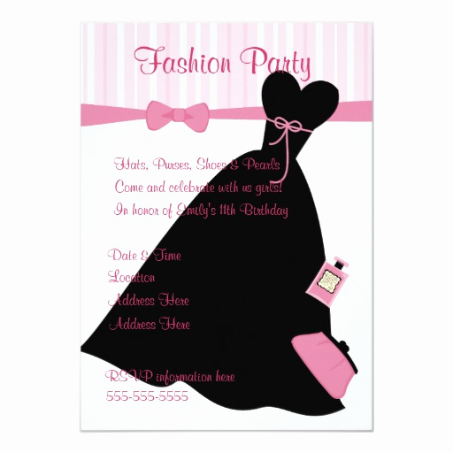 Fashion Show Invitation Template Elegant Fashion Show 5x7 Paper Invitation Card
