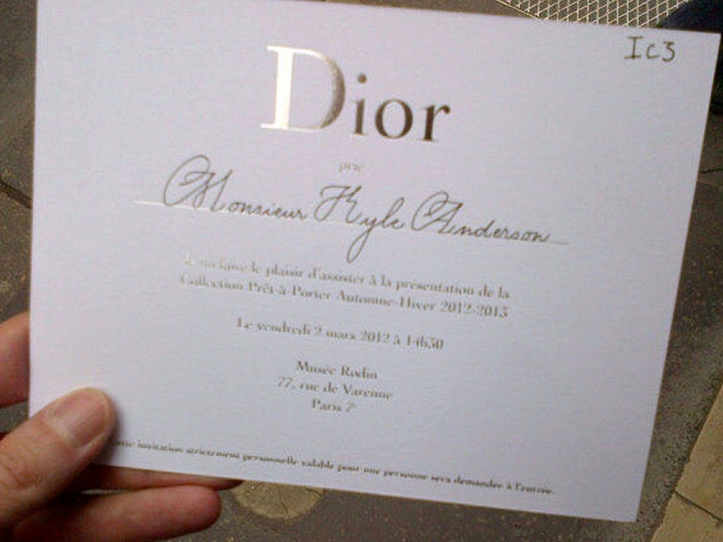 Fashion Show Invitation Template Elegant This Dior Fashion Show Ticket is A Classic Example for