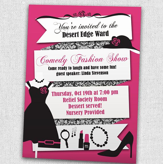 Fashion Show Invitation Template New Best 25 Fashion Show Invitation Ideas On Pinterest
