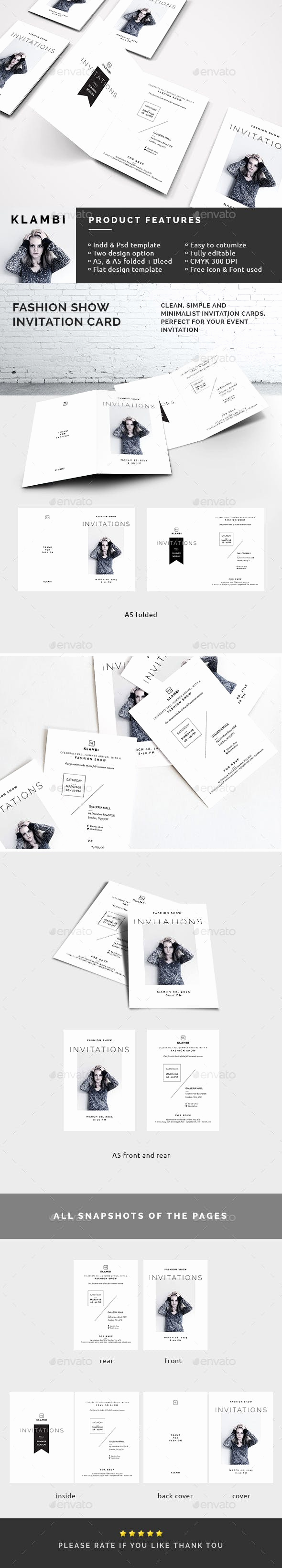 Fashion Show Invitation Template New Fashion Show Invitation Template by Boxkayu