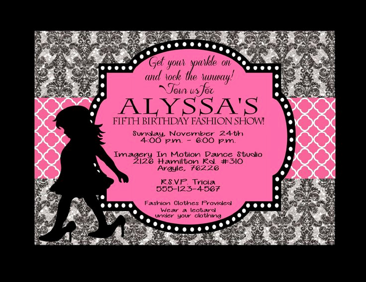 Fashion Show Invitation Template Unique Fashion Show Invitations Printable