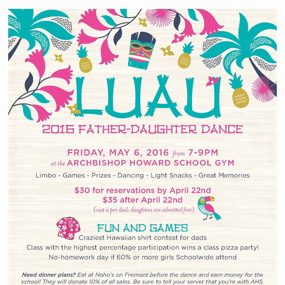 Father Daughter Dance Invitation Awesome Annual Father Daughter Luau Dance
