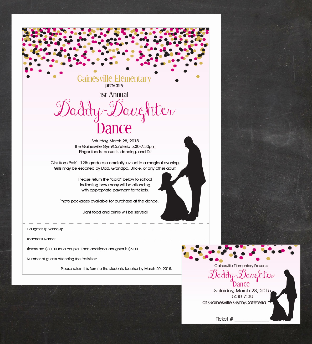 Father Daughter Dance Invitation Best Of Daddy Daughter Dance Father and Daughter Dancing event