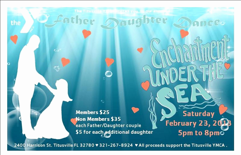 Father Daughter Dance Invitation Fresh Ymca Father Daughter Dance Enchantment Under the Sea