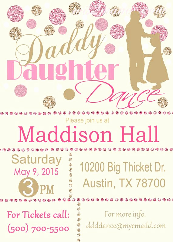 Father Daughter Dance Invitation New Best 25 Daddy Daughter Dance Ideas On Pinterest