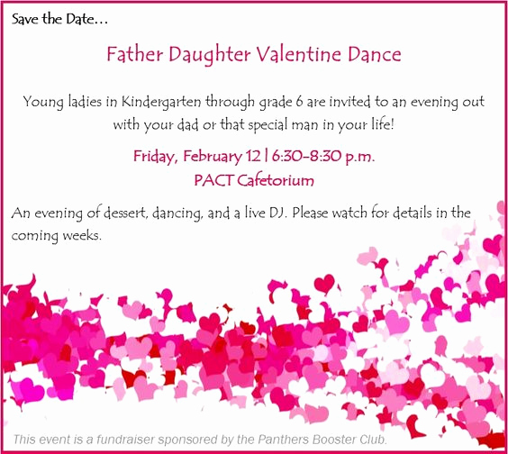 Father Daughter Dance Invitation New Father Daughter Dance Invitation Pact