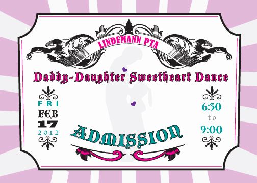 Father Daughter Dance Invitation Template Beautiful the Paper Sentiment
