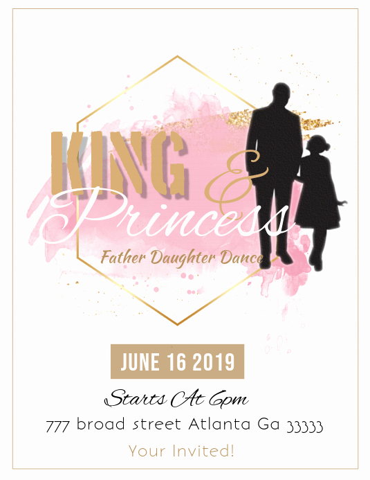 Father Daughter Dance Invitation Template Lovely Father Daughter Dance Template