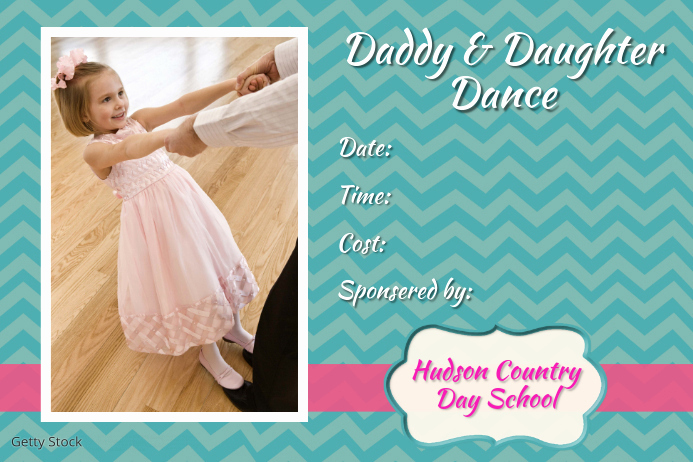 Father Daughter Dance Invitation Template New Father Daddy Daughter Dance Fundraiser event Flyer Poster