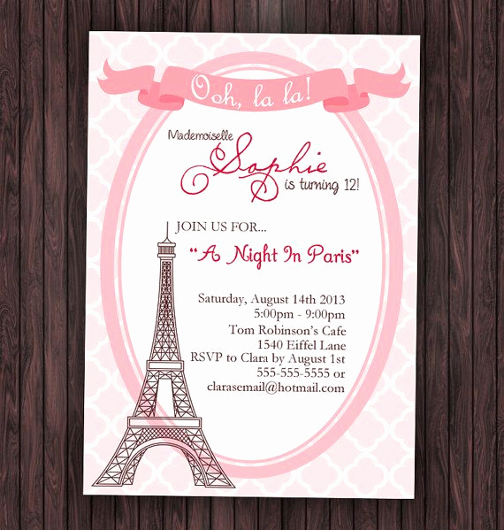 Father Daughter Dance Invitation Template New Paris Invitation Paris Birthday Invitation Paris Baby