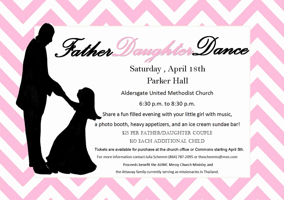 Father Daughter Dance Invitation Unique Father Daughter Dance