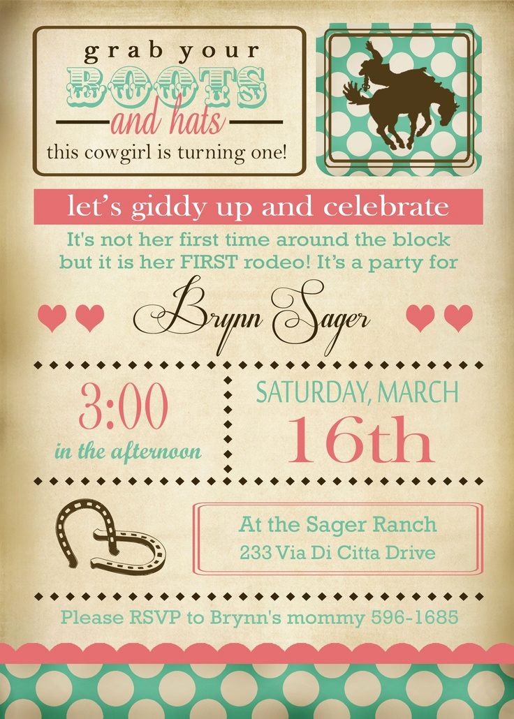 Father Daughter Dance Invitation Wording Awesome 25 Best Ideas About Cowgirl Birthday Invitations On