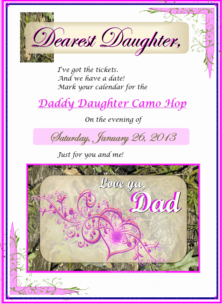 Father Daughter Dance Invitation Wording Beautiful Design Project Portfolio