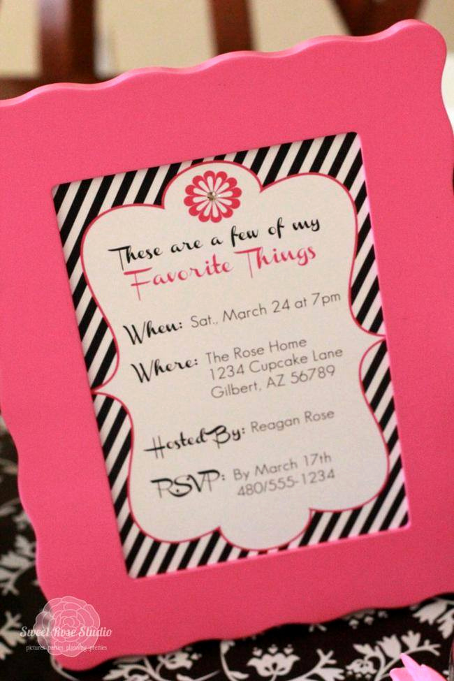 Favorite Things Party Invitation Awesome 15 Best Favorite Things Party How to – Tip Junkie