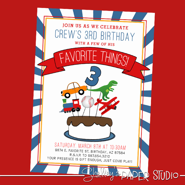 Favorite Things Party Invitation Best Of Favorite Things Birthday Party Invite