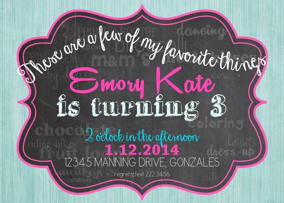 Favorite Things Party Invitation Elegant Printable Favorite Things Birthday Invitation by