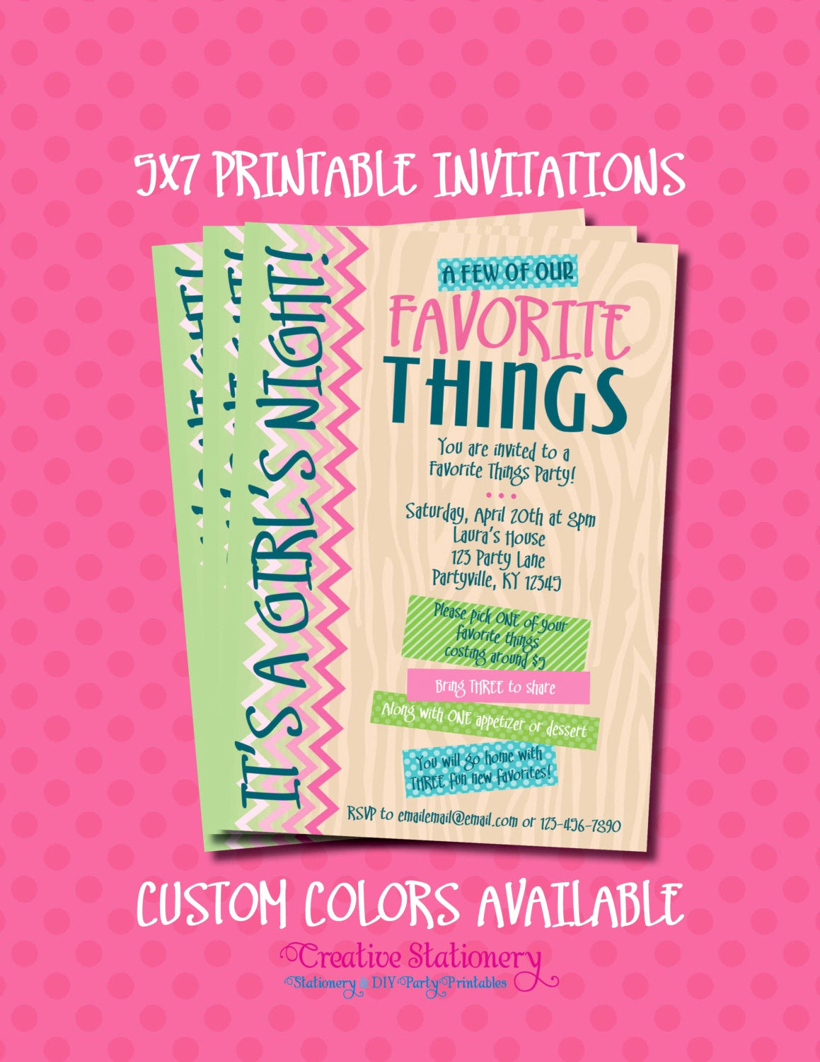 Favorite Things Party Invitation Fresh Favorite Things Party Invitations Printable by