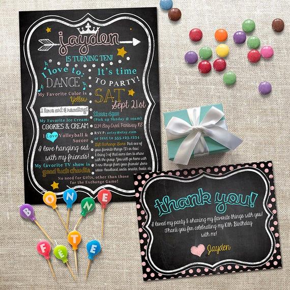 Favorite Things Party Invitation Fresh First Birthday Invitation & Thank You Card Set My