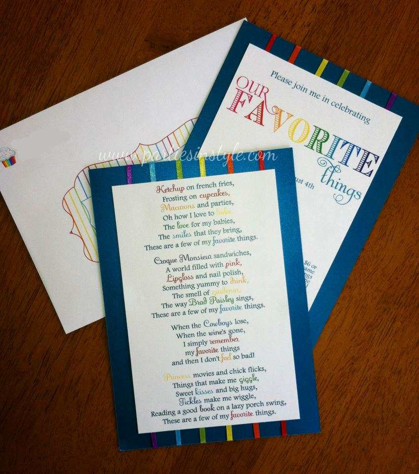 Favorite Things Party Invitation Fresh Rainbow Colors La S Night Party Ideas