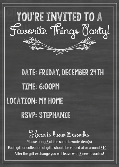 Favorite Things Party Invitation Inspirational How to Host A Favorite Things Party How Sweet This is