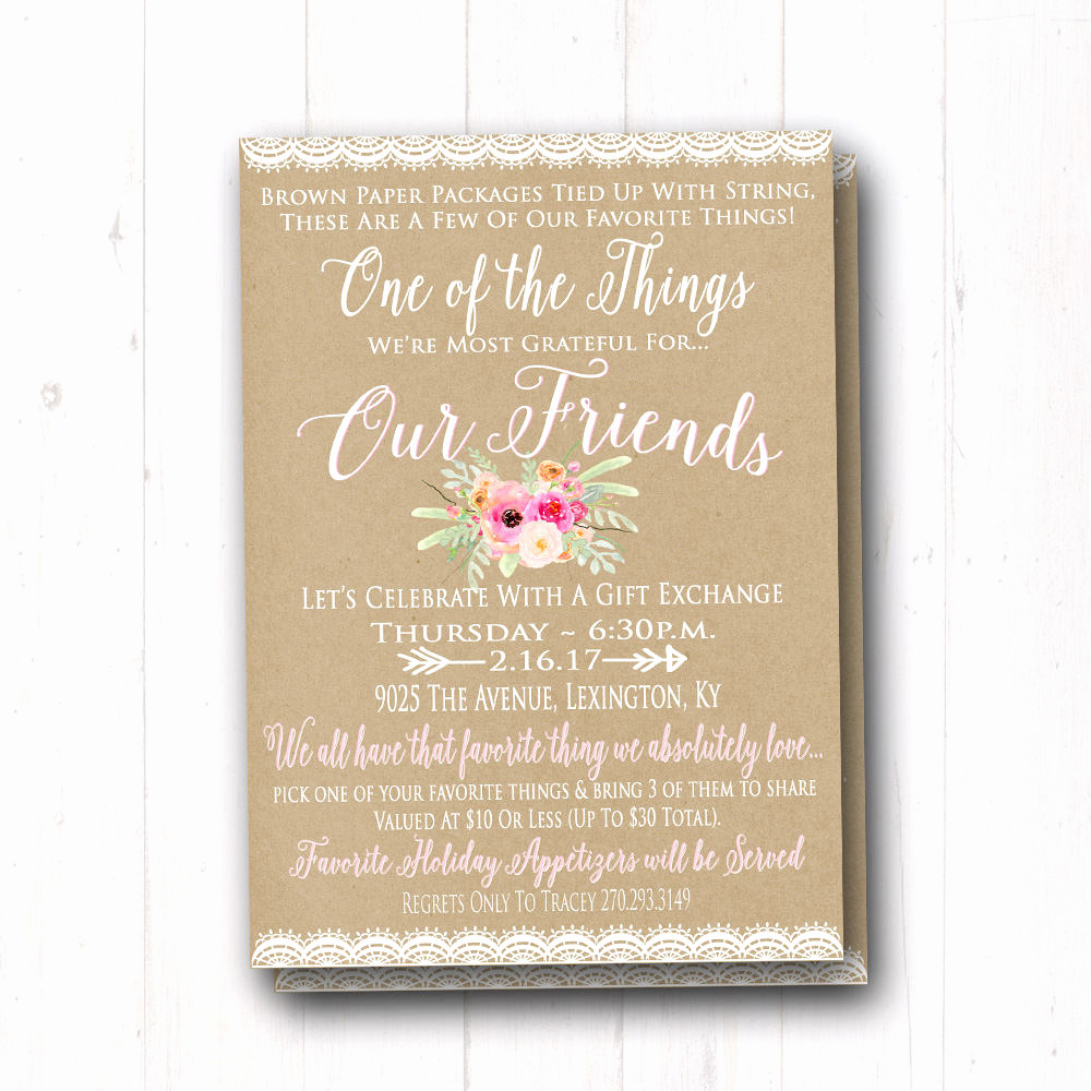 Favorite Things Party Invitation Template Best Of Favorite Things Birthday Party Invitation La S Gift