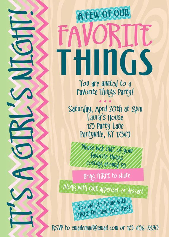 Favorite Things Party Invitation Template Best Of Favorite Things Party Invitations Printable by