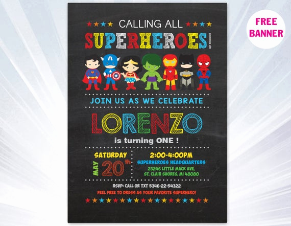 Favorite Things Party Invitation Template Best Of Super Hero Invitation Superhero Invitation Templates