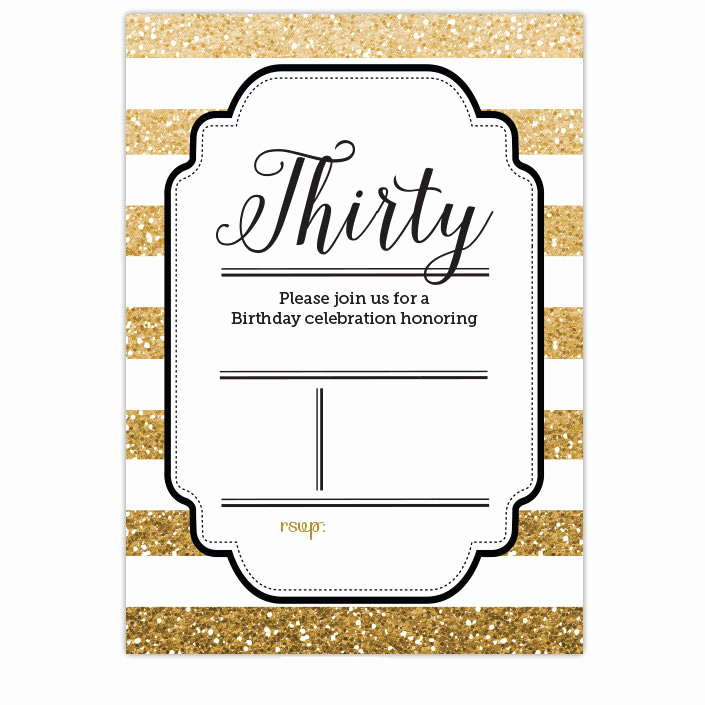 Favorite Things Party Invitation Template Elegant Free Printable 30th Birthday Invitations – Bagvania Free
