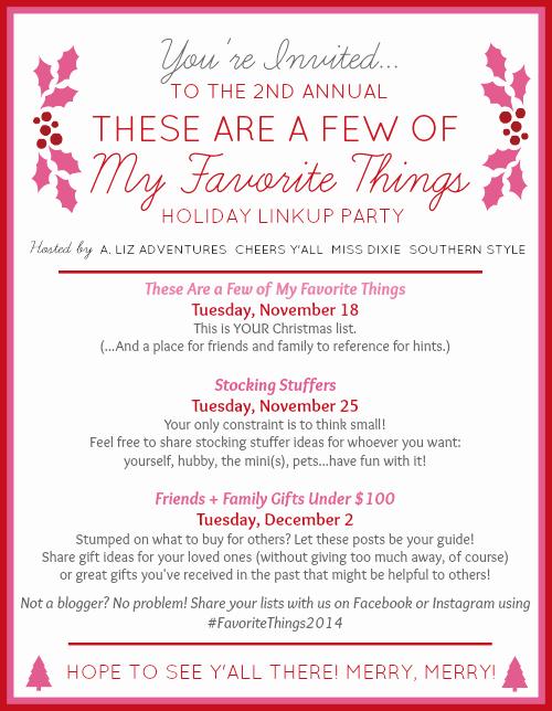 Favorite Things Party Invitation Template Elegant Raising southern Grace these are A Few Of My Favorite
