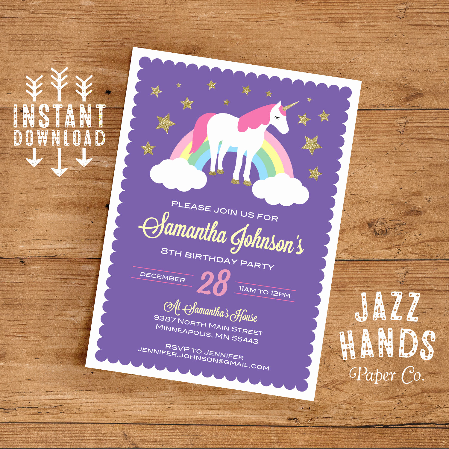 Favorite Things Party Invitation Template Elegant Unicorn Birthday Invitation Template Diy Printable Unicorn