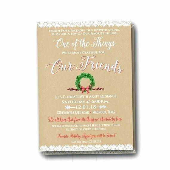 Favorite Things Party Invitation Template Fresh Favorite Things Party Invitation Template – Sepulchered