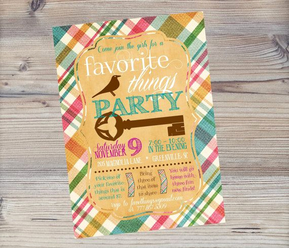 Favorite Things Party Invitation Template Luxury 17 Best Images About Favorite Things Party On Pinterest