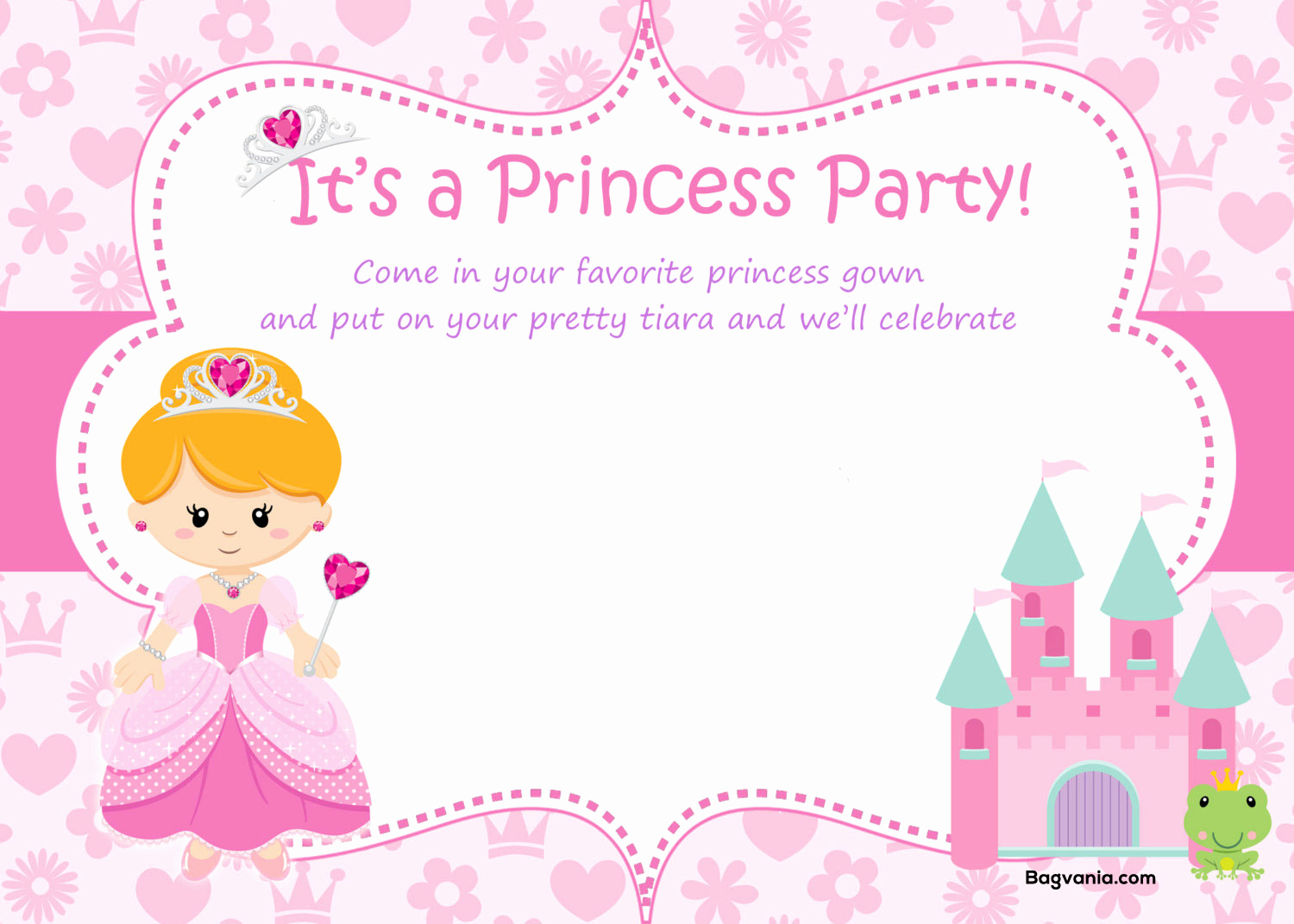 Favorite Things Party Invitation Template New Free Princess Birthday Invitations – Free Printable