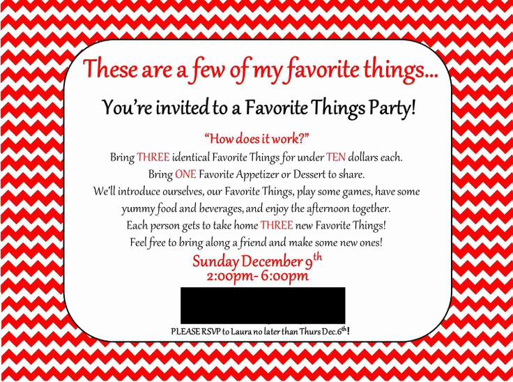 Favorite Things Party Invitation Template Unique Land Of Collins My Favorite Things Party Invitation