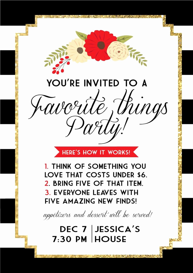 Favorite Things Party Invitation Unique 25 Best Ideas About Christmas Party themes On Pinterest