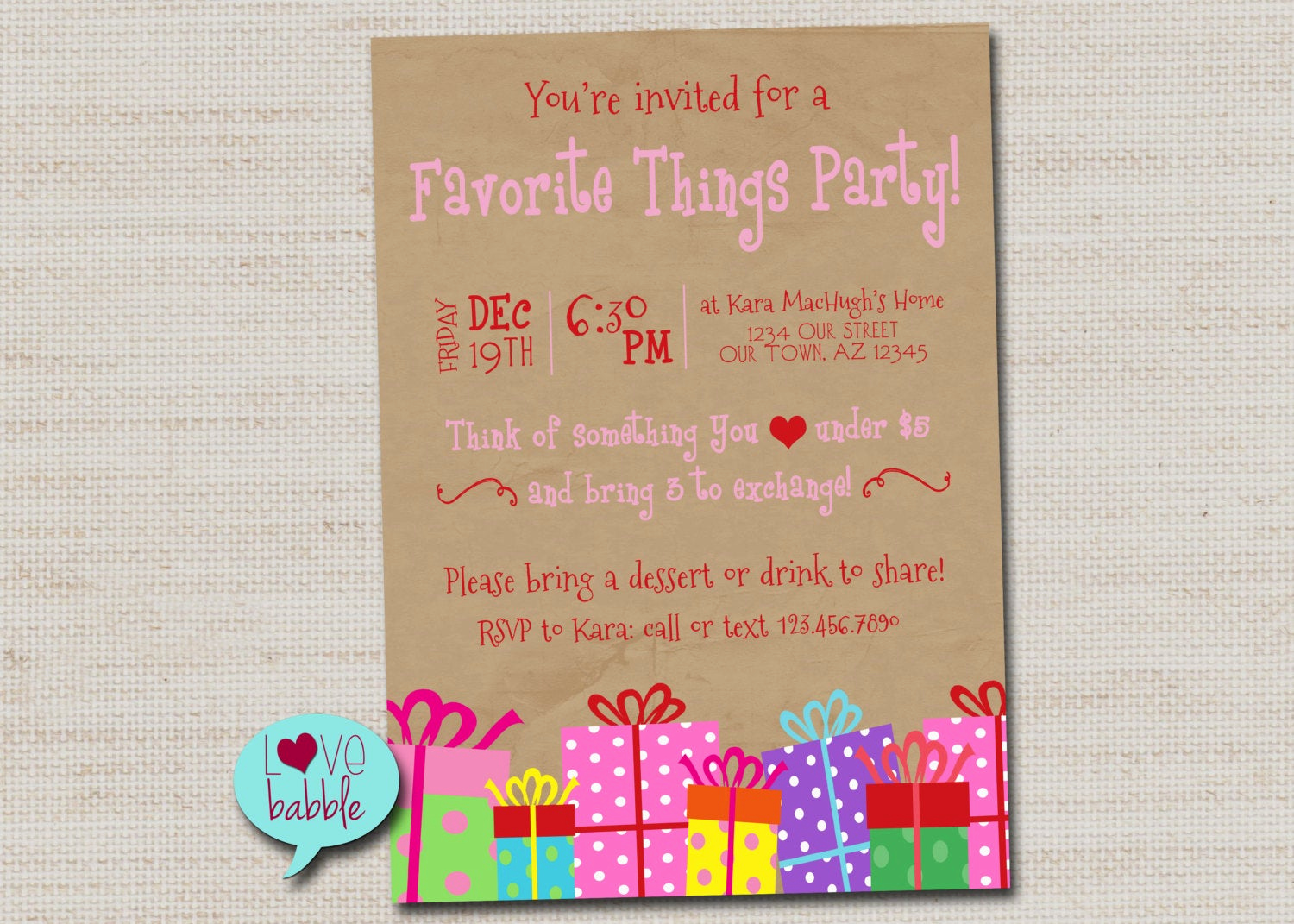 Favorite Things Party Invitation Unique Favorite Things Cookie Swap White Elephant Christmas Party