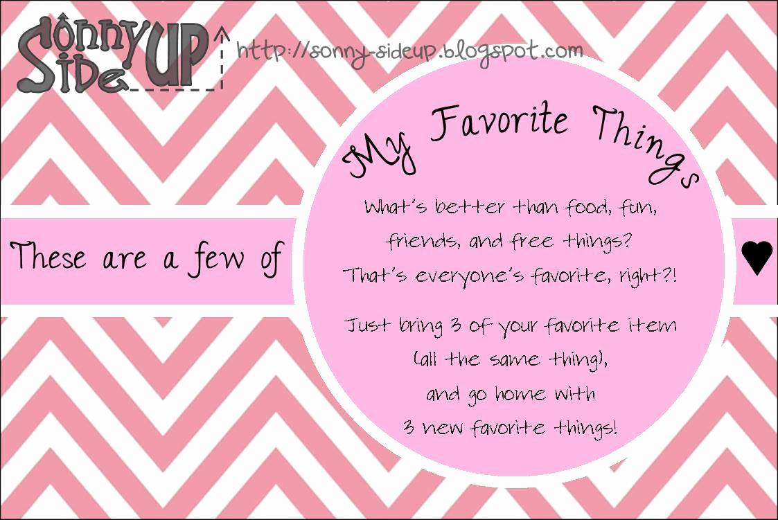 Favorite Things Party Invitation Unique sonny Side Up My Favorite Things Party Invitation Preview