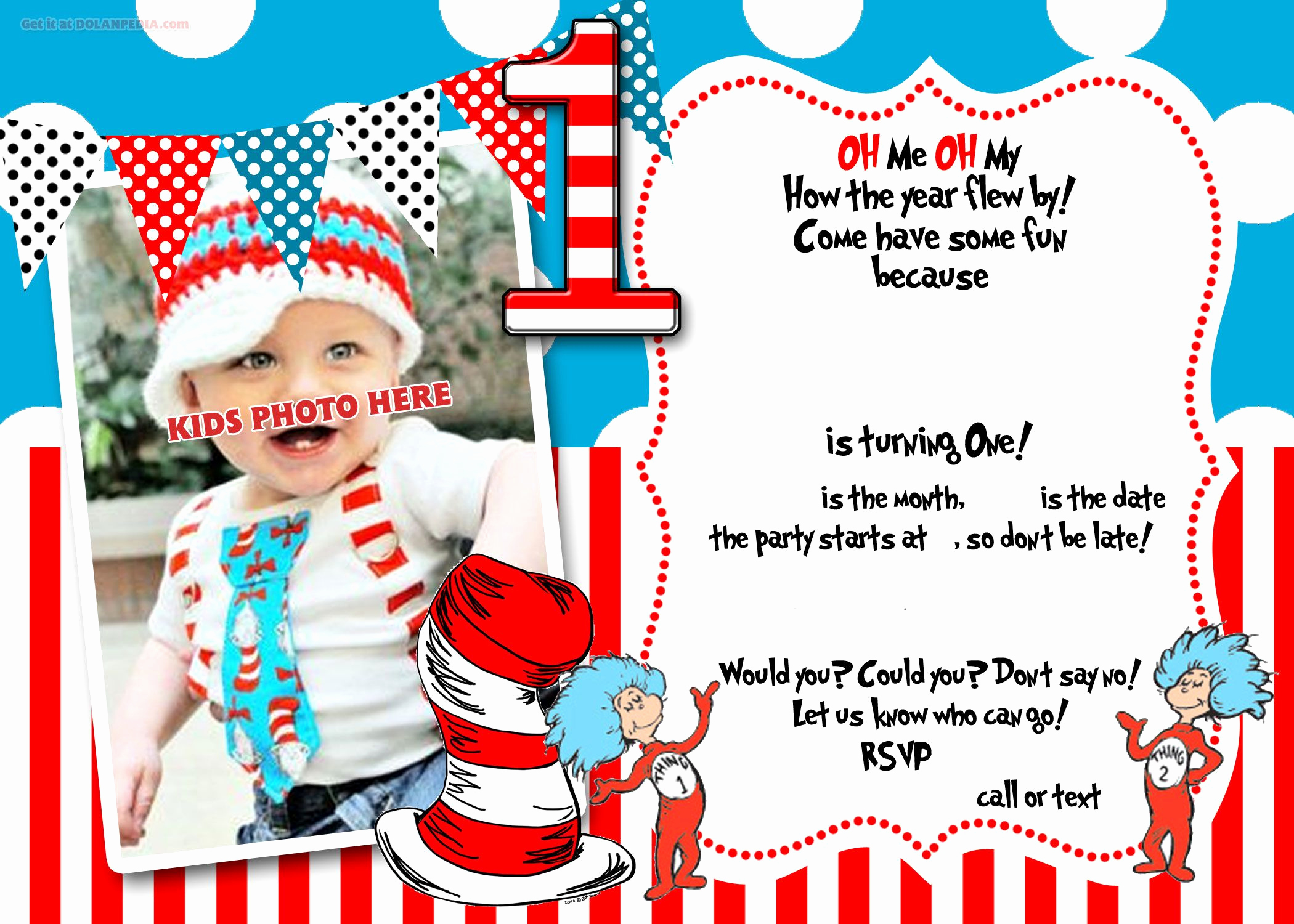 First Birthday Invitation Ideas Luxury Free Printable Dr Seuss 1st Birthday Invitation Template