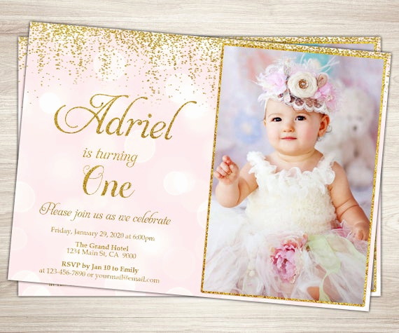 First Birthday Invitation Ideas New First Birthday Invitation Girl 1st Birthday Invitation Pink
