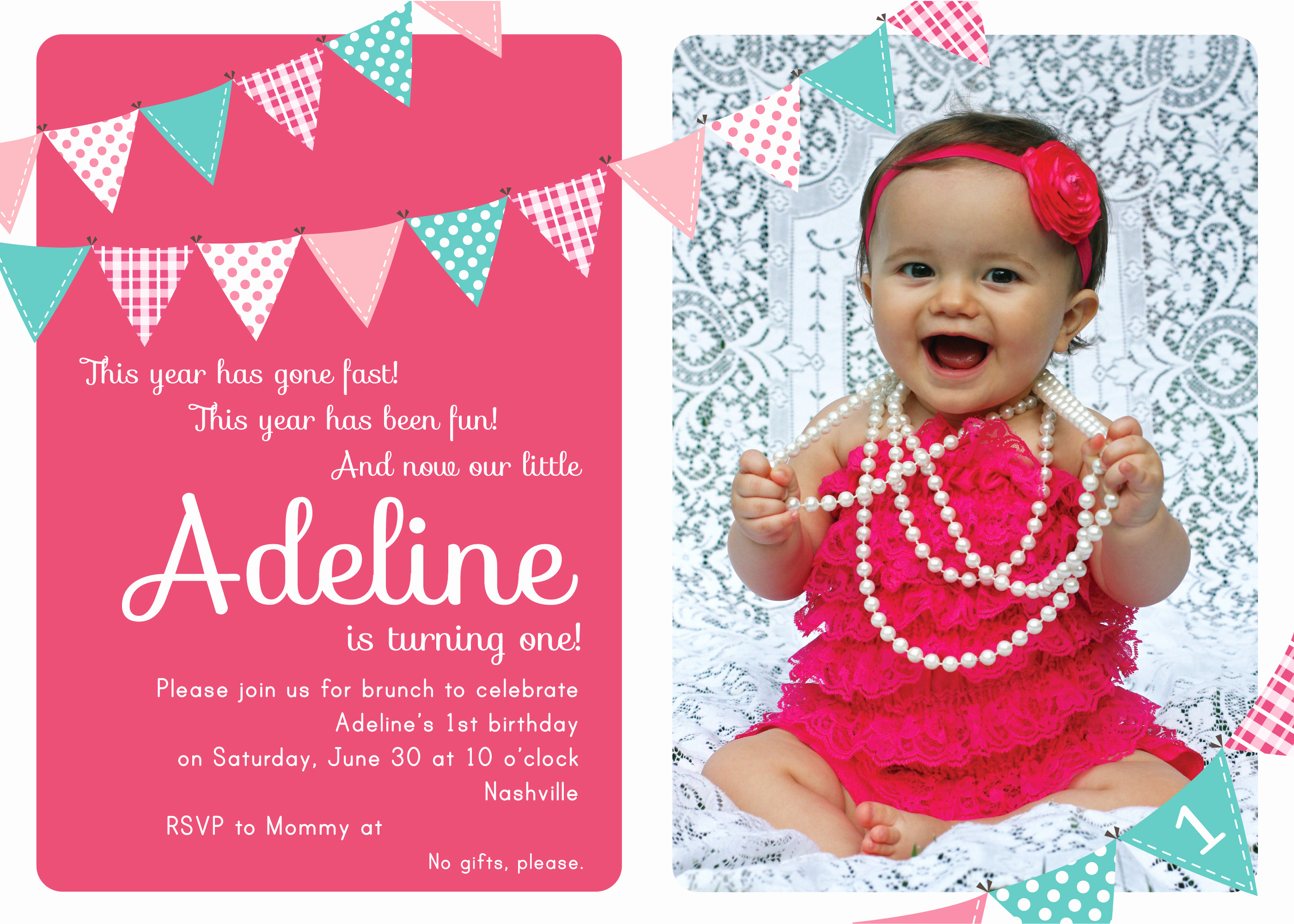 First Birthday Invitation Wording Beautiful First Birthday Party Invitation Ideas – Free Printable