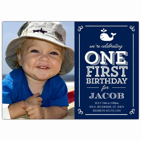 First Birthday Invitation Wording Beautiful Whale Blue First Birthday Invitations