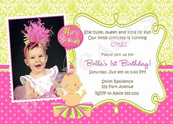 First Birthday Invitation Wording Best Of First Birthday Invitation Wording and 1st Birthday